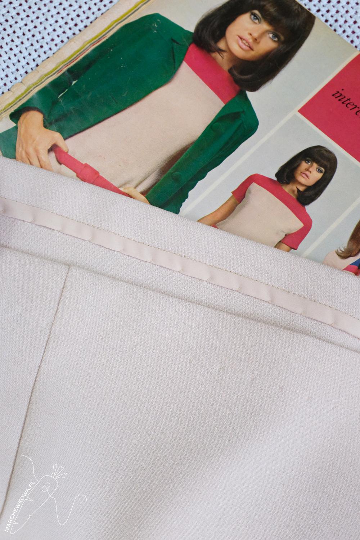 marchewkowa, blog, szycie, sewing, rękodzieło, handmade, moda, styl, vintage, retro, repro, 1960s, Wrocław szyje, w starym stylu, Burda Moden 9/1966, two-colour dress, sukienka dwukolorowa, tkanina zara, Textilmar