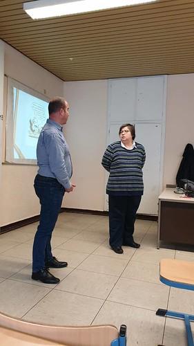 Με το Διευθυντή του Ελληνικού Γυμνασίου-Λυκείου στην Κολωνία
