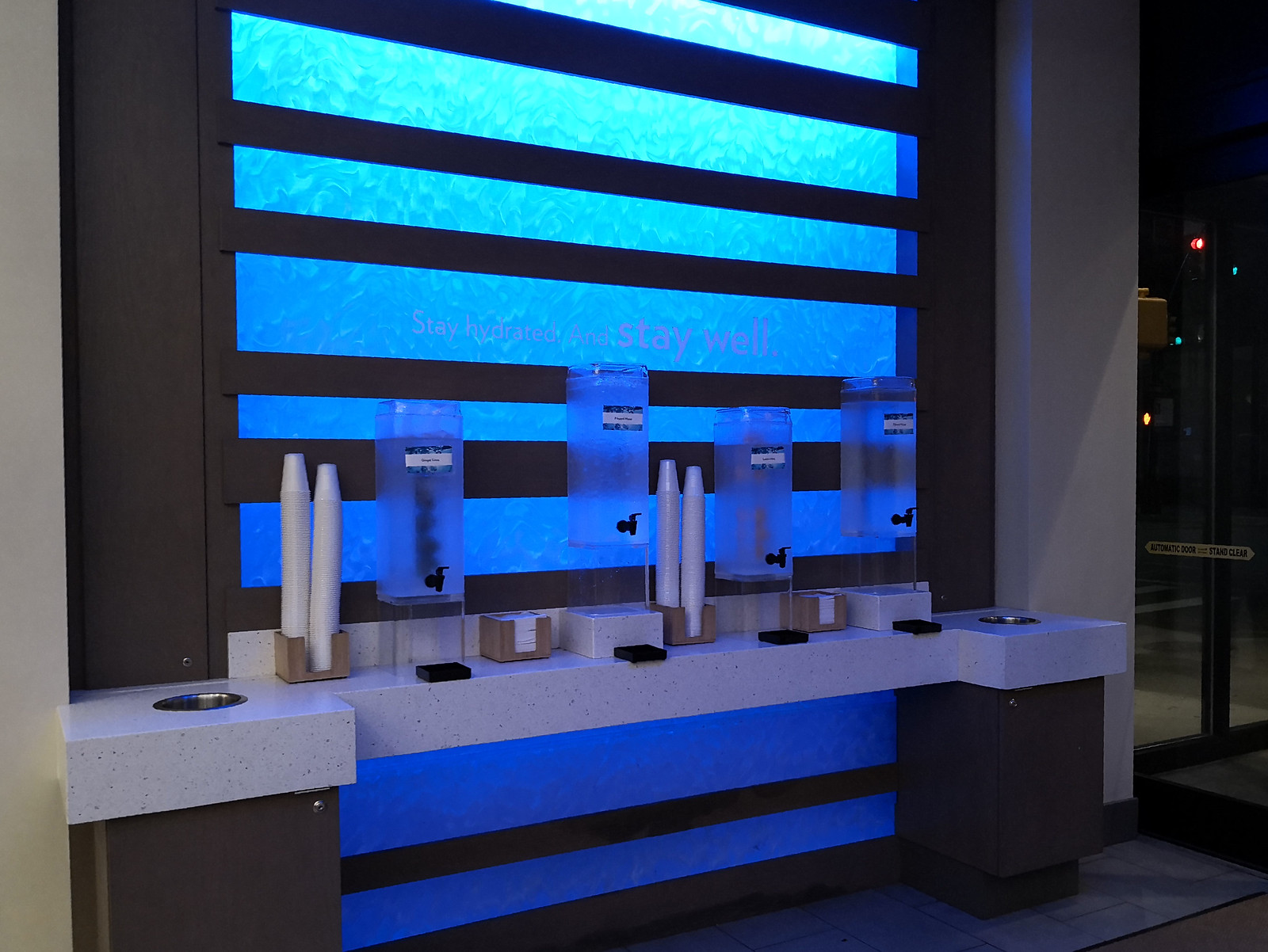 Water dispensers by the lobby