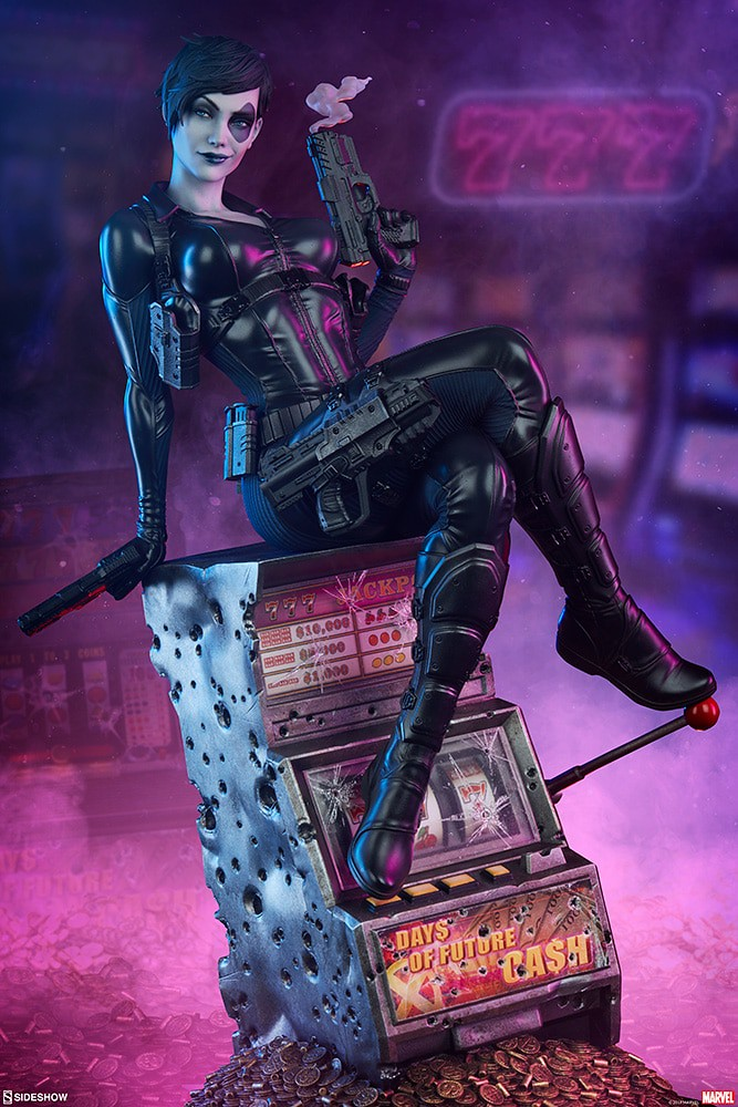 Sideshow Collectibles Premium Format Figure 系列 Marvel Comics【多米諾】Domino 1/4 比例全身雕像作品 普通版/EX版