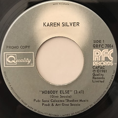 KAREN SILVER:NOBODY ELSE(LABEL SIDE-A)