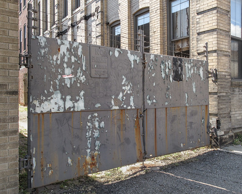 Weird gate of rusting and peeling.