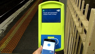 Mobile Myki: touching at a reader | by Daniel Bowen