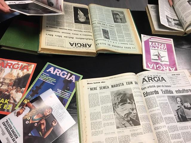 ARGIA aldizkaria eta Arratzain Sagardotegia 2019