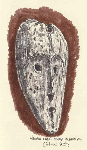Máscara Fang. Guinea Ecuatorial