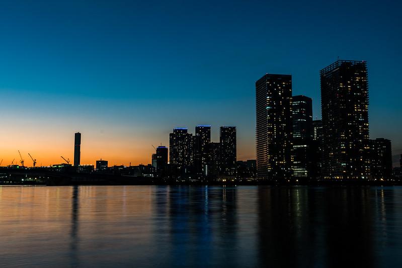 豊洲・晴美の高層マンションの夜景