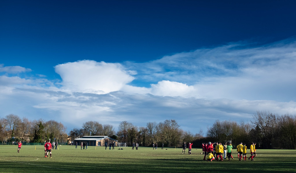 Half time between the hail storms at Hinksey