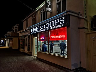 Fish and chips , Blackpool UK