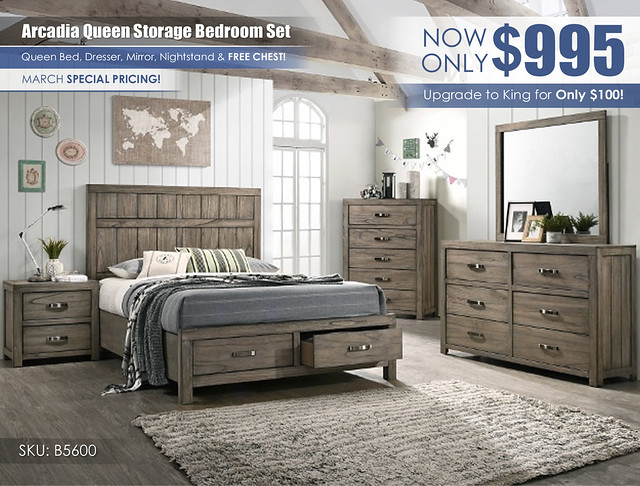 Arcadia Gray Bedroom Set_March_B5600