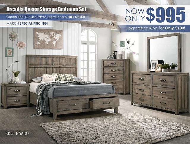 Arcadia Gray Bedroom Set_March_B5600