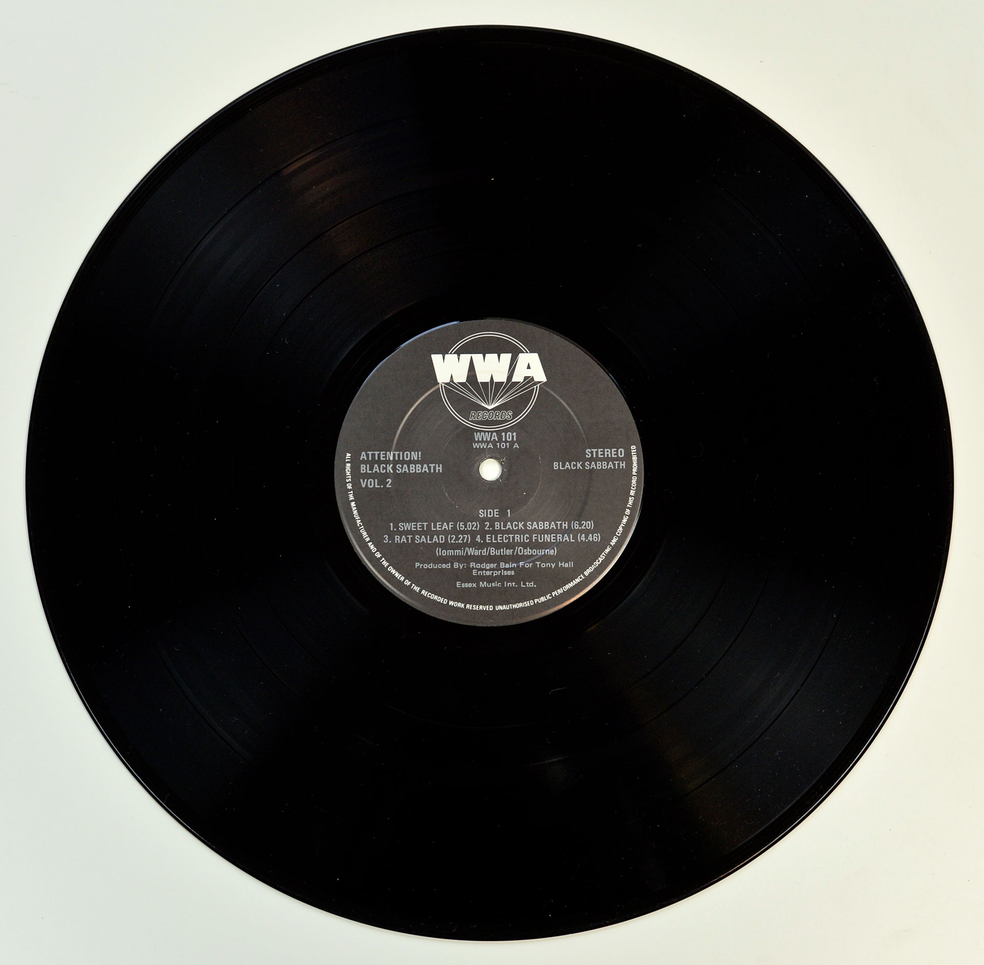 Photo of Side A BLACK SABBATH - Attention! Volume Two