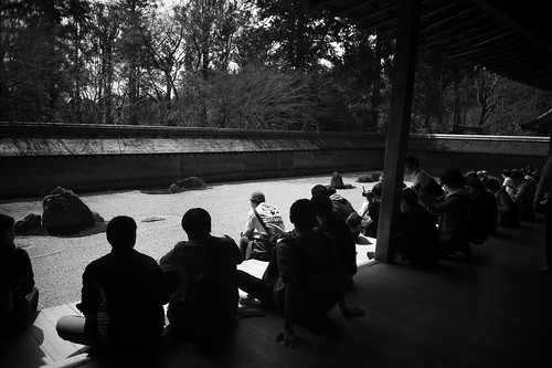 Stone garden of Ryoanji temple