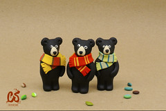 :: Three black bears