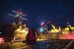 USS Porter (DDG 78) conducts an underway replenishment.