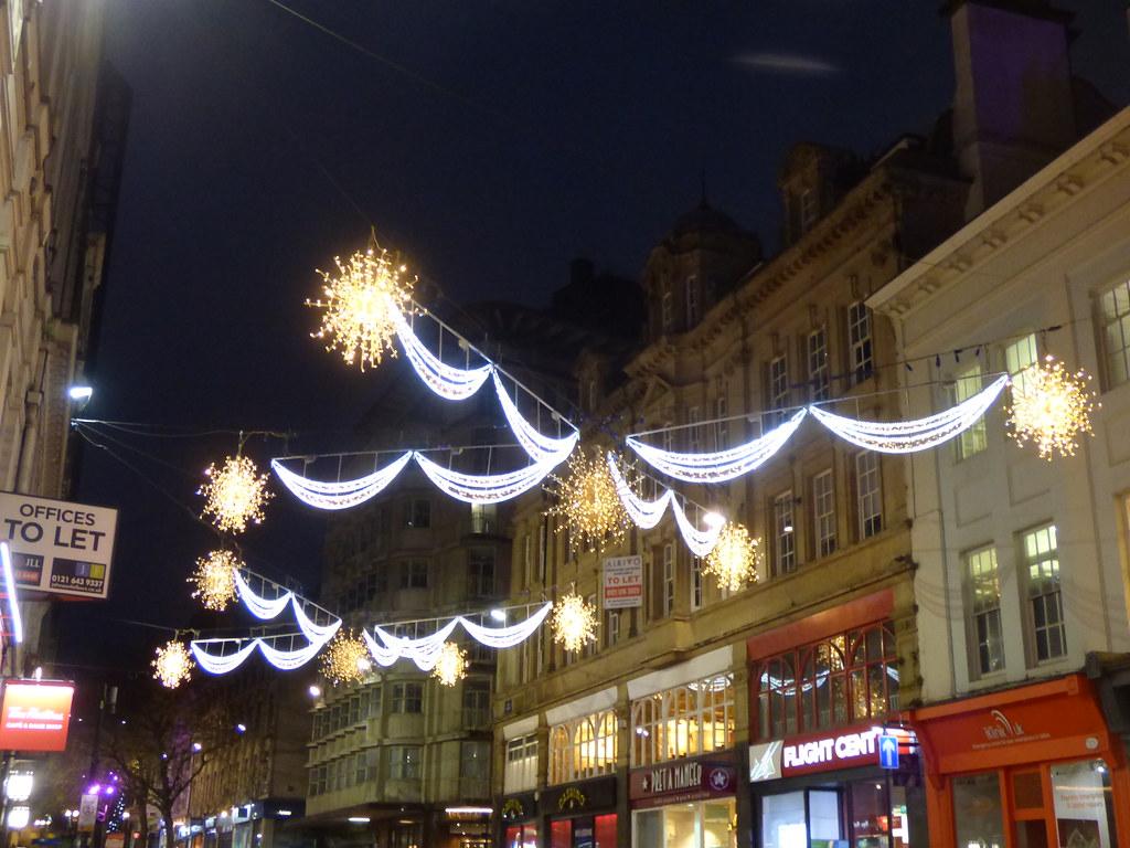 Birmingham Christmas Lights.Christmas Lights On New Street Birmingham A Traffic Accid
