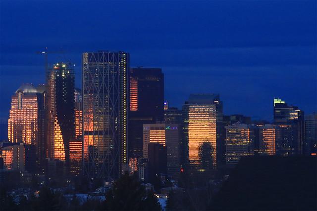 Sunrise Reflection Calgary