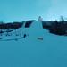 stavění paralelního slalomu po ránu