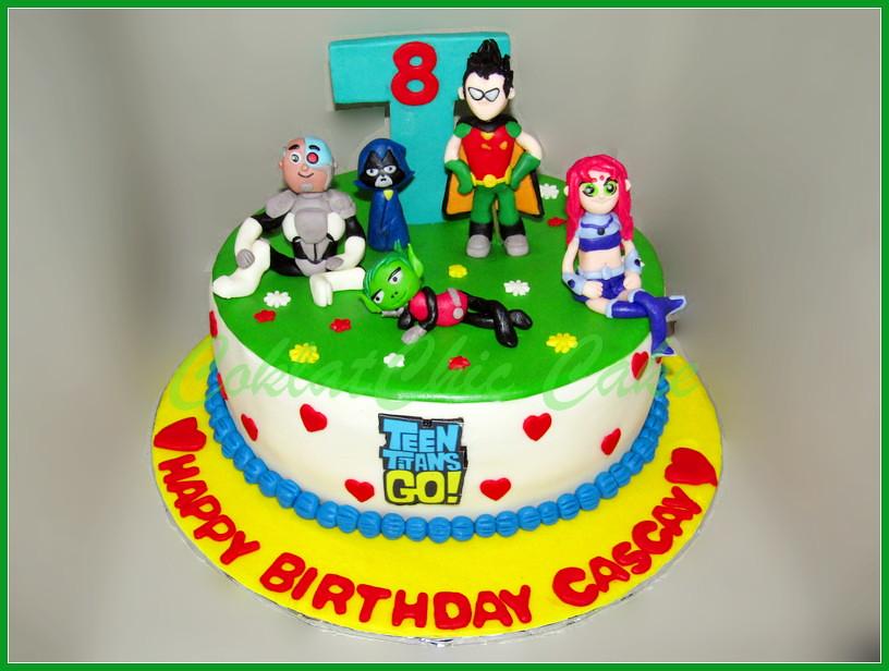 Cake Teen Titan Go CASCAY 24 cm