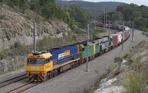 PN MB4 NR8 + DL45 & NR30 APPROACHING FASSIFERN 21st Sept 2005.
