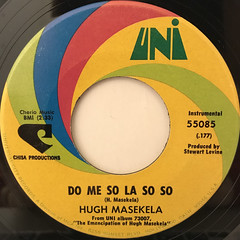 HUGH MASEKELA:PUFFIN' ON DOWN THE TRACK(LABEL SIDE-B)