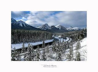Courbe de Morant, Parc National de Banff - Alberta Canada