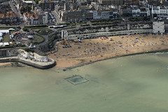 The tidal pool at Broadstairs in Kent - UK aerial image