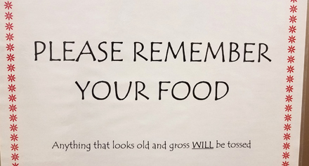 Please Remember Your Food