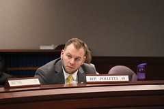 State Rep. Joe Polletta listens to testimony in the Insurance Committee.