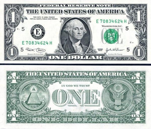1 americký dolár USA 2003 E, P515a Virginia