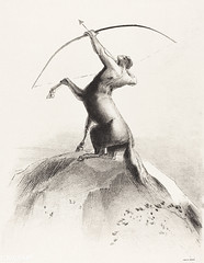 Centaur Aiming at the Clouds by Odilon Redon