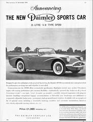 1960 Daimler SP250 V-8 Sports Car