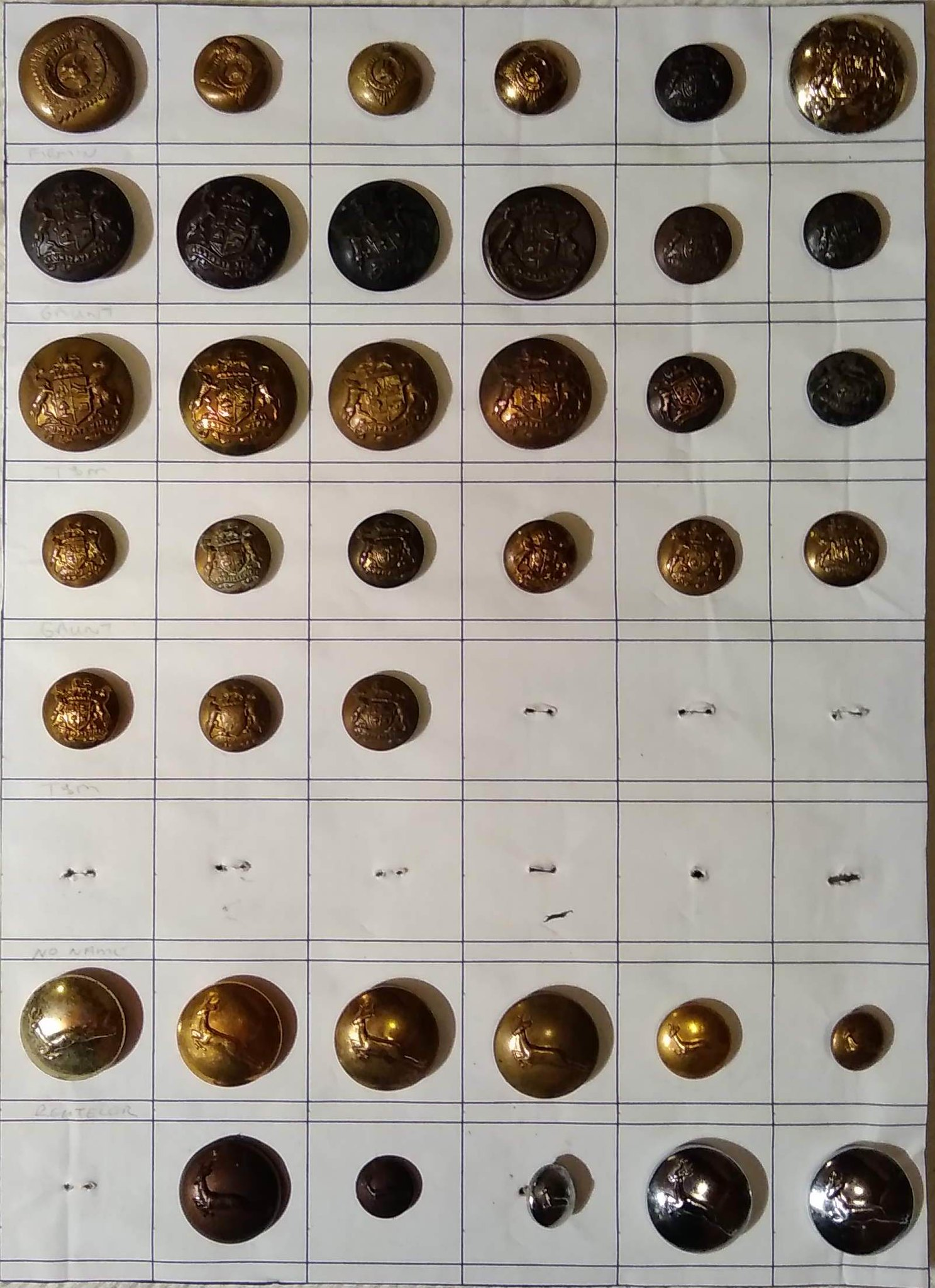 South African Buttons - British & Commonwealth Military