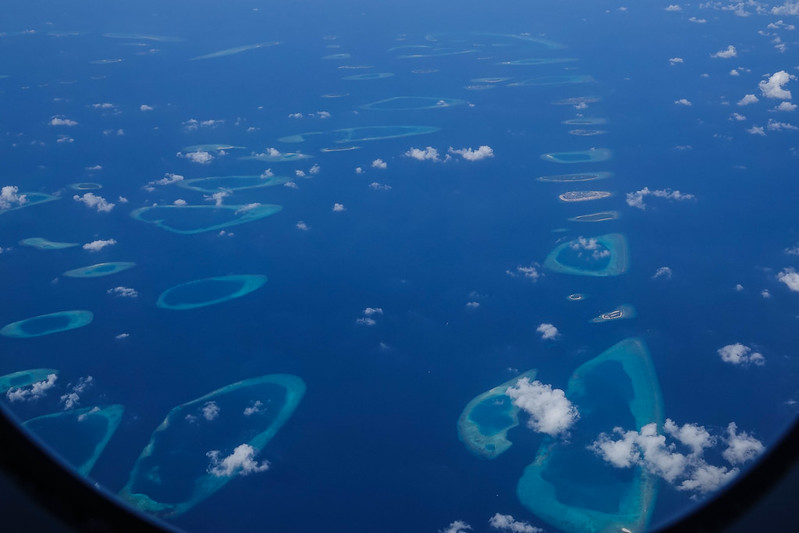 First glimpse of the Maldives
