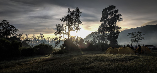 Sunrise at the camping ground | by otidh