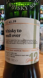 SMWS 42.39 - Whisky to mull over