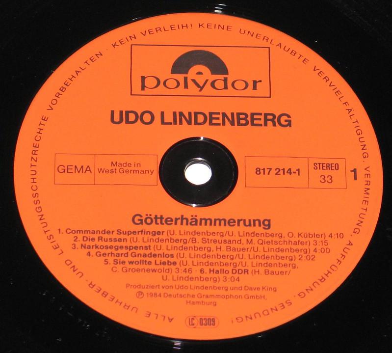 Udo Lindenberg Götterhämmerung + Poster