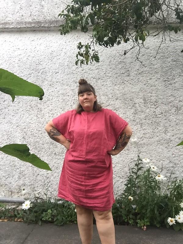 Schnittchen Rose Dress Linen 2