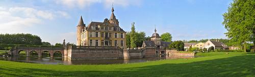 Gravenwezel Castle, locally known as Kasteel 's-Gravenwezel, just outside Antwerp, Belgium.