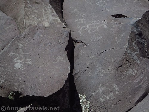 A few of the less-obvious petroglyphs at Nampaweap, Grand Canyon-Parashant National Monument, Arizona
