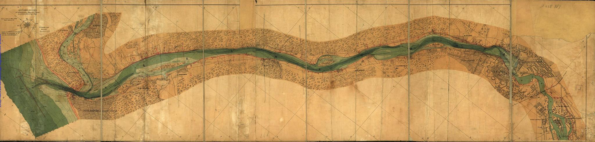 1898. План реки Наровы от водопада до устья и части прилегающего к ней морского рейда