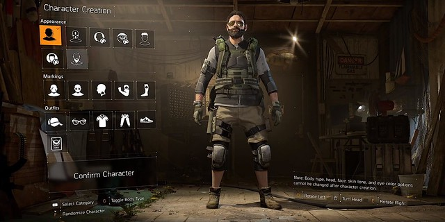 The Division 2 Character Creation