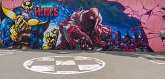 Grafitti Jam Downtown - Carrefour de Super-Héros