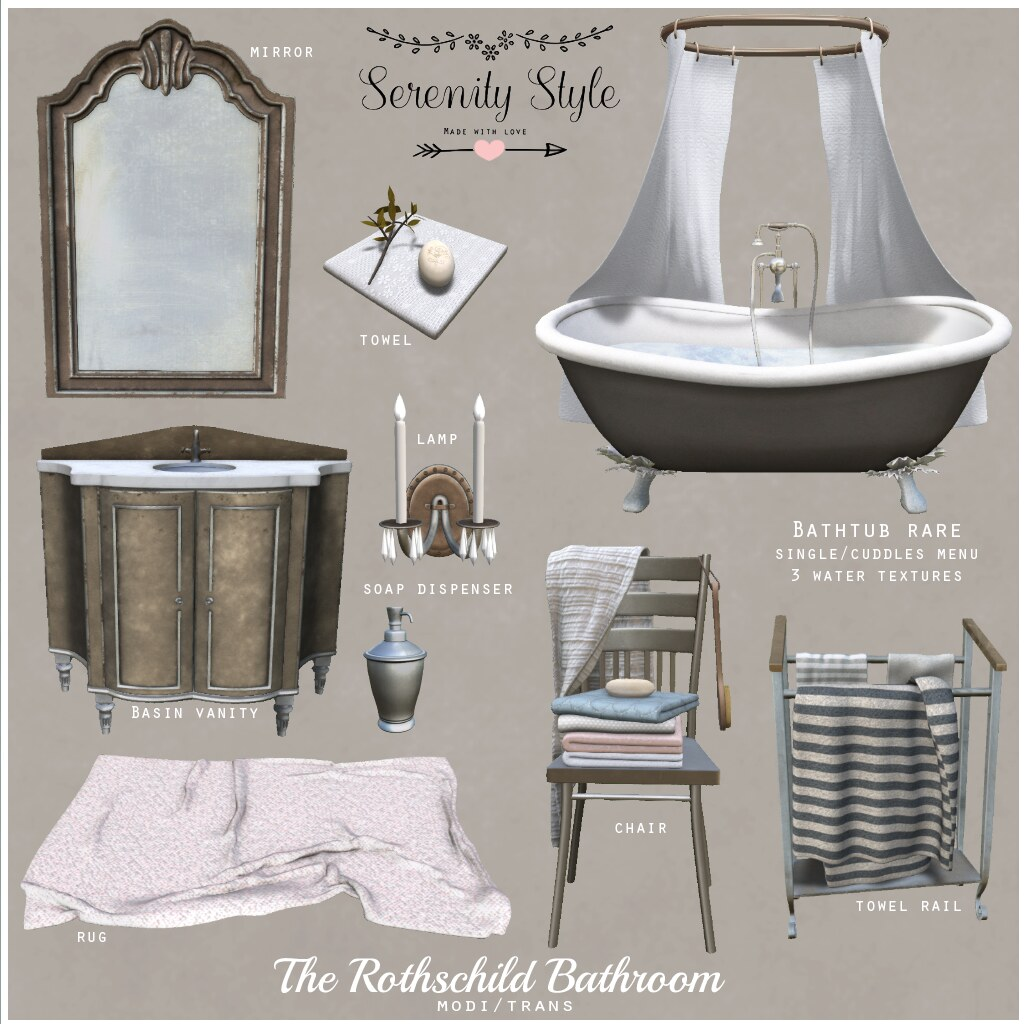 Serenity Style- The Rothschild Bathroom Key