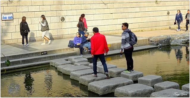 Cheonggyecheon Stream in Seoul.