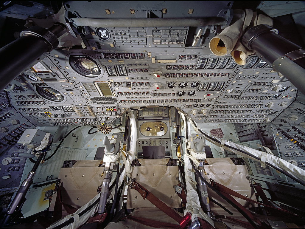 Interior of the command module