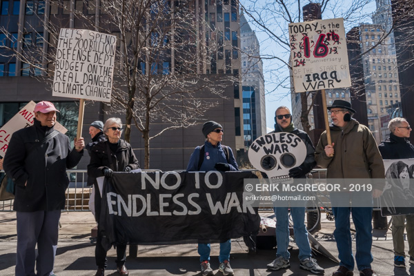 NYC Rally to stop U.S. endless wars