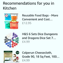 Not sure what Amazon thinks I do in my kitchen.