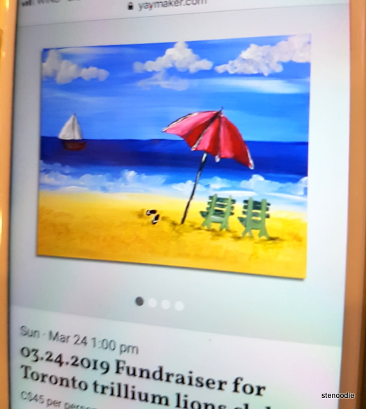 Paint Nite beach painting