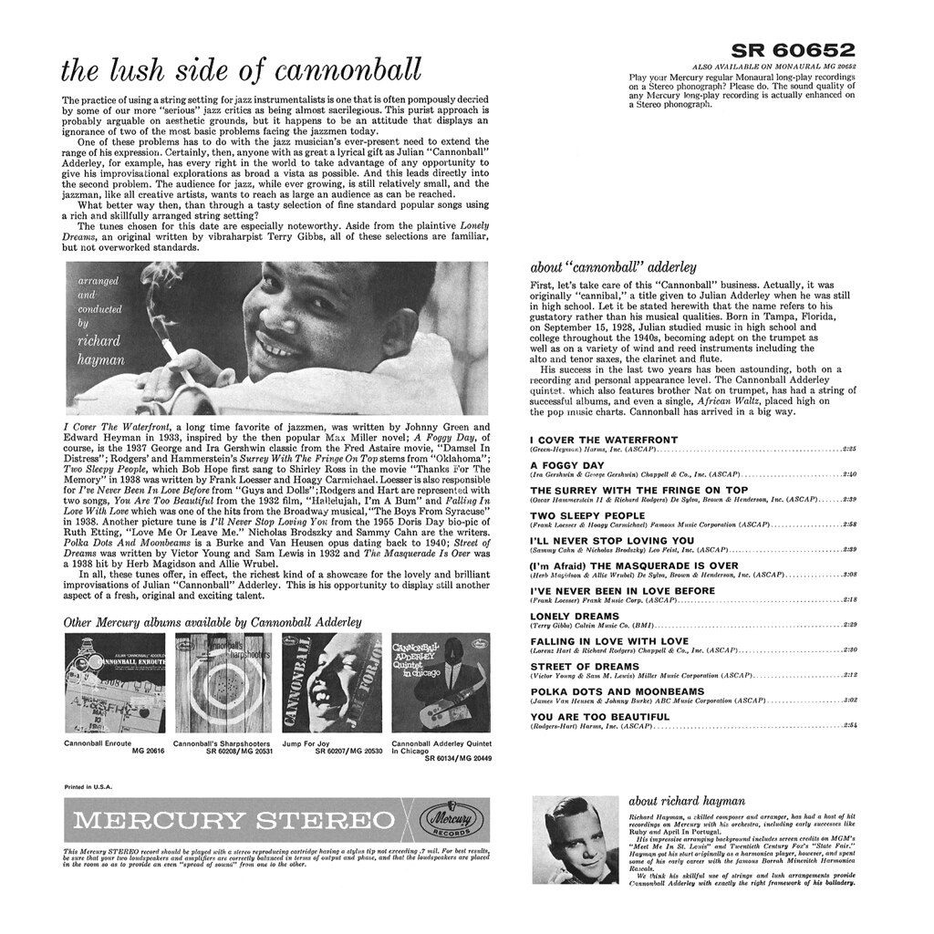 Cannonball Adderley - Lush Side of Cannonball