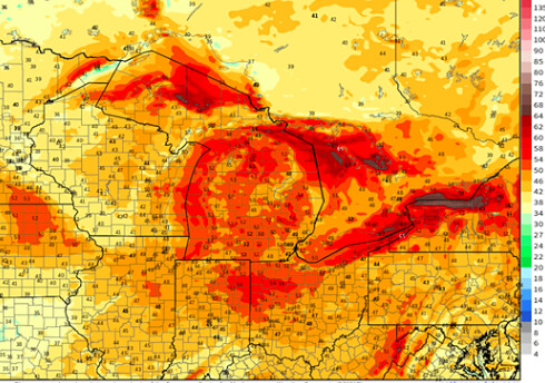 High Winds Expected to Impact Southern Michigan